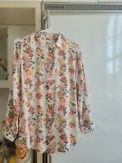 Equipment 100 Silk Floral Blouse Top Size Xs New