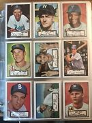 1952 1953 1954 Reprint Sets W/ Mantle Mays Williams And Robinson