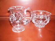 Waterford Cut Crystal Open Sugar And Creamer
