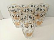 Set Of 8 Vintage Rx Apothecary Pharmacy Themed Collectible Drinking Glasses