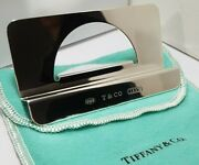 Vintage 1999 And Co Sterling Silver 1837 Business Card Holder