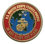 U.s. United States Marine Corps Forces Pacific Usmc Military Gold Plated Coin