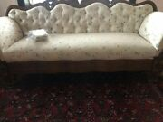 Antique Sofa ,modern Tufted Newly Upholstered Solid Wood Victorian Empire 1800's