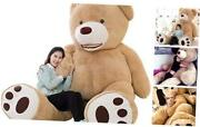 Giant Teddy Bear Plush Toy Stuffed Animals 78 Inches Brown