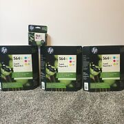 Hp 564xl Ink Tri Color Ink Cartridges-3 Packages Of 3-pack And 1 Magenta-exp 2019