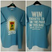 T In The Park 2010 Tennents Lager Promotional Blue Tshirt Size Medium