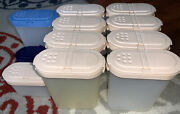 Vintage Tupperware Spice Containers 1846 And 1843 With Tops 1970s 9 Lg 2 Sm