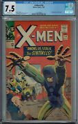 Cgc 7.5 X-men 14 1st Appearance Of The Sentinels Ow Pages 1965 Jack Kirby