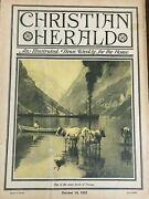 Christian Herald Magazine Fjords Of Norway Cows Steamboat Oct 14 1922