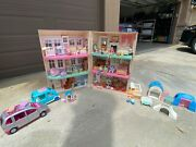 Fisher Price 1993 Vintage Loving Family Dollhouse W/ All Furniture And Accessories