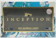 2021 Topps Inception Baseball Hobby Box 1 Auto Or Auto Relic With Free Shipping