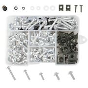 177pcs Motorcycle Screw Set Fairing Bumpers Panel Bolts Kit Fastener Clips Screw