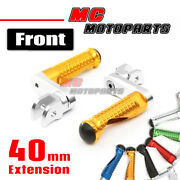 Cnc 40mm Mpro Front Foot Pegs Footrest For Kawasaki Z750 Z1000 Er-6f Versys 1000
