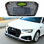 Fit For Audi A4 B9 2020-2021 Abs Black Front Center Mesh Grille Grill Cover Trim