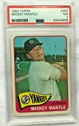 1965 Topps Mickey Mantle 350 Psa Nm 7