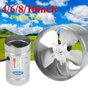 4/6/8/10 Inch Inline Duct Booster Fan Air Exhaust Ilation Blower Grow ❤ ❤