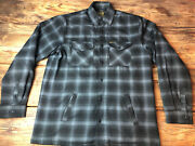 Og Dixxon Flannel The Continental Lined Jacket Button Snaps And Zipper Large