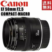 Canon Ef 50mm F2.5 Compact Macro Lens Full-size Support Slr Camera