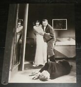 Mgm Joan Crawford | Lionel Barrymore Original One Page 9x12 Bandw Photo