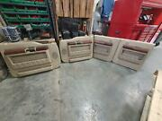 08-10 Ford F350sd F250sd Set Of 4 Door Panels Tan/brn Leather Pwr Kingr