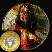 Wonder Women Silver Eagle Ounce Oz / Full Color 24k Gold And Capsule Is Included