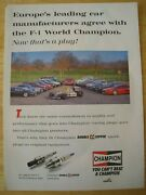 Champion Spark Plugs Cooper Double Copper Spark Advert Approx A4 Size File P