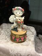 Limoges Dreamsicles Angel And Little Lamb Trinket Dish