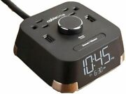 Cubie Time Hotel Alarm Clock Xtra Outlets + Usb Charging Surge Brandstand Bpect