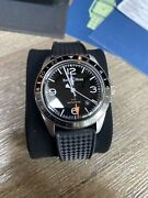 Bell And Ross Br V2-93 Gmt Steel Auto 41mm Strap Mens Watch Brv293-bl-st/srb