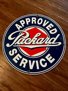 Packard Approved Service Porcelain Sign 11 3/4andrdquo