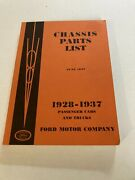 260 Pages Authentic Ford Chassis Parts Book 1928 29 30 31 32 33 34 35 36 37