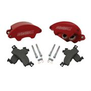 Ssbc A185r Disc Brakes Frontcaliper Upgrade Supertwin Red Calipers For Gmc Chevy
