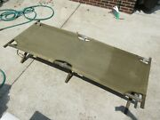 Us Ww2 Wooden Cot 1945 Dated Wood Canvas Vintage