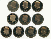 1980 - 1989 Kennedy Half Dollar 10-coin Proof Set - Collection Lot - Bq387