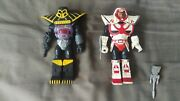 Vintage X-changers Colonel Strong And Daark Lord Figures Acamas Toys 1980and039s