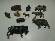 Vintage Collection Of Pre-war Toy Farm And Zoo Animals