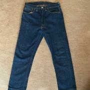 Levi's 502 Big E 0117 60s 70s Vintage W34 L36 Blue Denim Jeans Made In Usa F/s