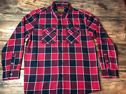 Dixxon Flannel Co Black And Red Original Yellow Label Size Large