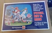 Burger King Pitch Hit And Run Baseball Card World Series Contest Translite Poster