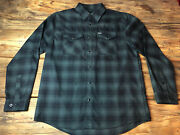 Dixxon Flannel Co Original Release Yellow Tag Black Pearl Snap Size Large