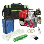 Portable Winch Pcw4000-vk Gas-powered Pulling Winch Off-road Kit W/ Bag