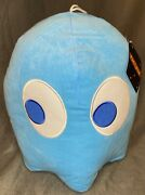 New Big 14 Pacman Inky Blue Ghost Plush Toy Factory Round 1 Toreba Sugarloaf