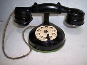 Vintage Metal Rotary Dial Black Toy Telephone Dials And Rings-nice