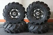 Defender Hd8 25 Mud 589 Atv Tire And Ss212 Blk Wheel Kit Made In Usa Can2ca