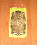 New Package Vintage Amerock Single Light Switch Plate Cover Metal Antique Brass