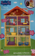Brand New Peppa Pig Peppa's Family Home 4 Story House With 11 Pieces
