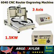 3 Axis 6040 Cnc Router Engraving Drilling Machine Milling Pcb Cutter Engraver Us