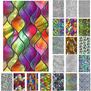 3d Rainbow Privacy Stained Glass Static Cling Sticker Frosted Window Room Decor.