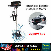 2200w Electric Outboard Motor Boat Engine Brushless Heavy Duty 60v Hangkai New