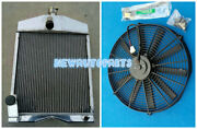50mm Aluminum Radiator And Fan For Ford 2n 8n 9n Tractors 8n8005 Tractor 1939-1952